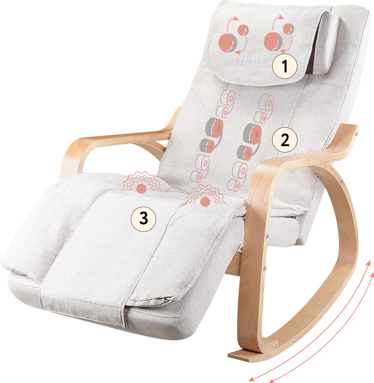 кресло качалка массажер ямагучи